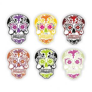 Candy Sugar Skull Printed Wall Art Decal Your Custom Colour
